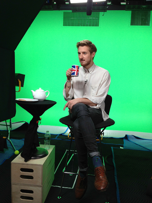 Arthur Darvill in the BBC AMERICA studio. (Photo: Dave Gustav Anderson)