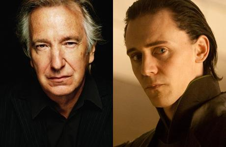 Alan Rickman and Tom Hiddleston go head-to-head.