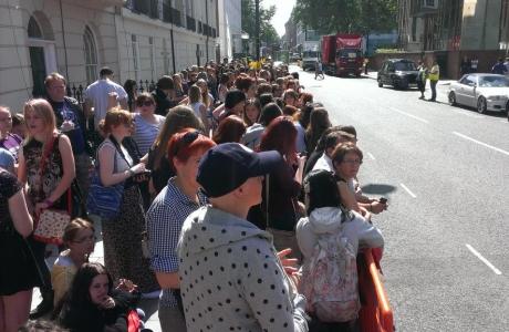 'Sherlock' fans in London (Photo: Tiia Öhman)