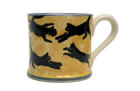 Brixton Leaping Cat Mug. (British Isles)