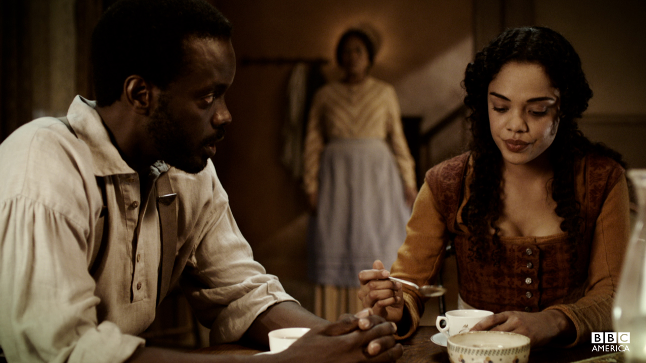 The Freemans discuss Hattie's rough transition from the plantation to Five Points.