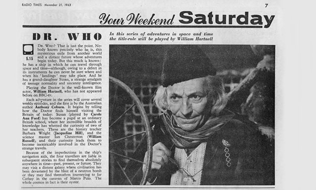 Radio Times - Doctor Who