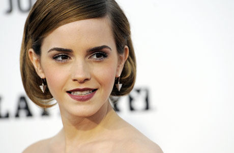 Emma Watson at the premiere of The World's End. (AP)