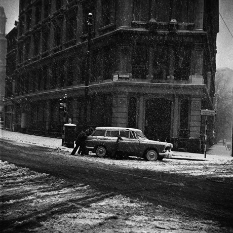 Great Britain London Snow Hits Traffic