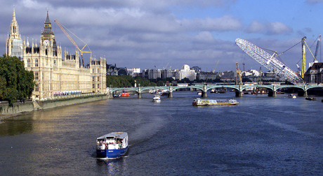 The London Eye is not a tilt-a-world ... again, it's not quite up, 2000. (AP)