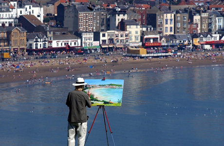 A picture within a picture, Scarborough, North Yorkshire, England. (AP)