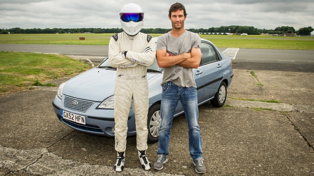 Mark Webber and The Stig