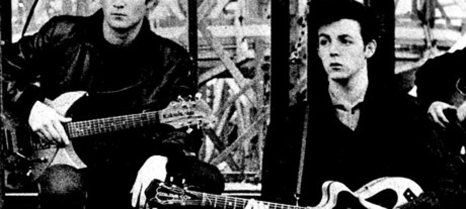 John Lennon and Paul McCartney in Hamburg 1961