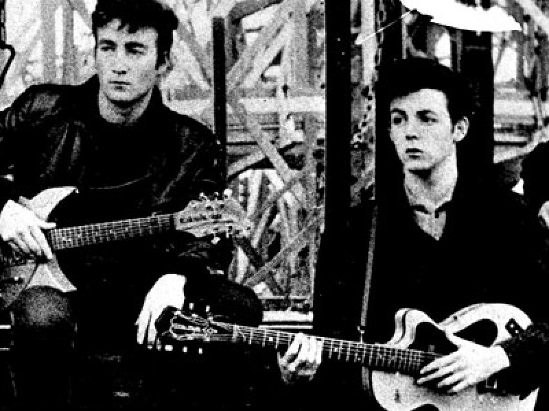 John Lennon and Paul McCartney in Hamburg 1961