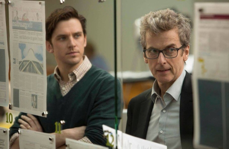 Dan Stevens and Peter Capaldi in 'The Fifth Estate'