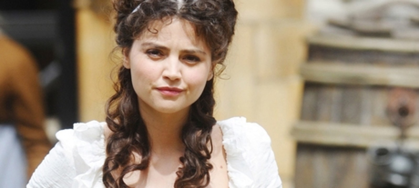Jenna-Louise Coleman on the set of 'Death Comes To Pemberley' (Photo: WENN)