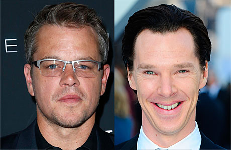 Matt Damon and Benedict Cumberbatch (AP Images)
