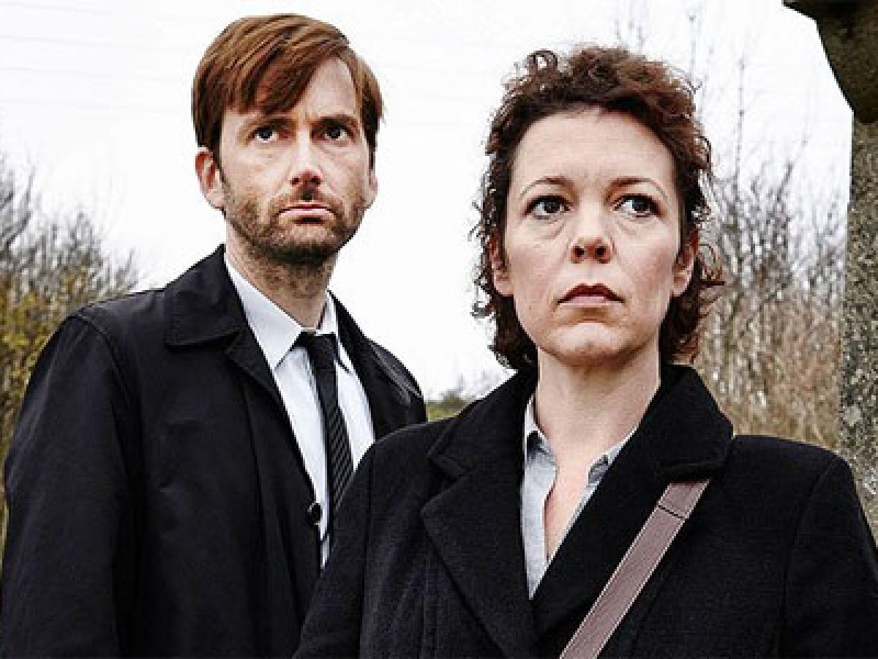 Olivia Colman and David Tennant in 'Broadchurch'
