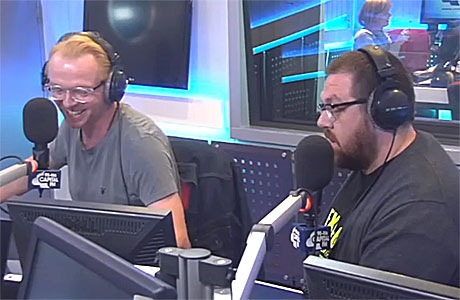 Simon Pegg and Nick Frost on Capital FM