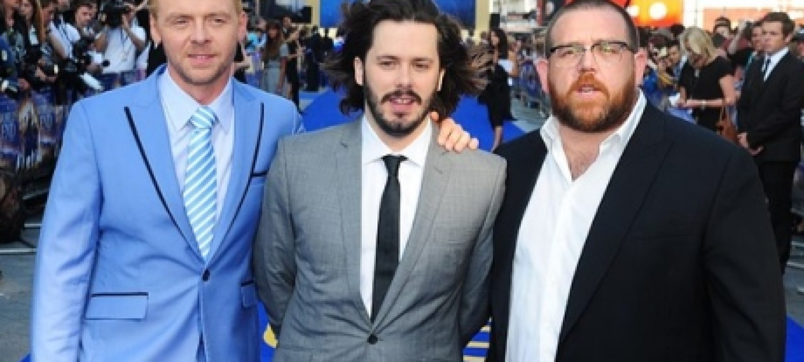 Simon Pegg, Nick Frost and Edgar Wright (Photo: Ian West/PA)