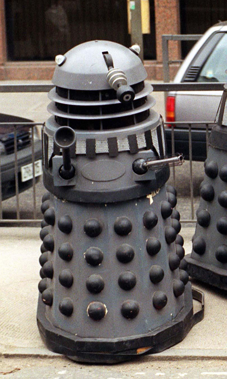 Careful! There's a Dalek loose in London, 1991. (AP)