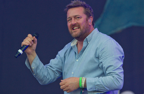 Elbow frontman Guy Garvey at Glastonbury 2011. (Photo: Joel Ryan/AP)