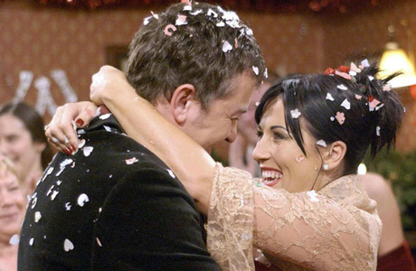 British-style nuptials, like Kat Slater and Alfie Moon's on 'EastEnders,' are boisterous, unpretentious affairs. (Photo: BBC)