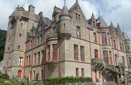 Belfast Castle is located 400 feet above sea level offering a great view of the city of Belfast, Northern Ireland. (WC)