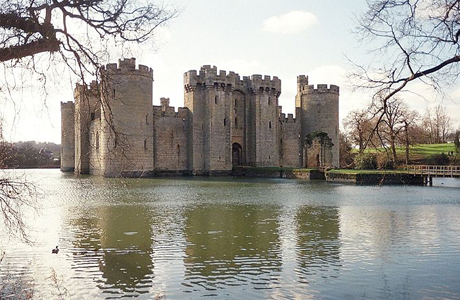 Bodiam Castle, in East Sussex, comes with a moat. Can't beat that. (WC)
