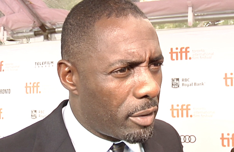 Idris Elba stops to chat with Anglophenia at the TIFF. (Screen shot)