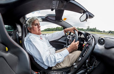 Jay Leno behind the wheel. (Jay Leno's Garage)