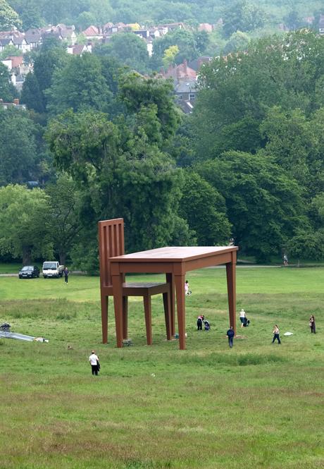 "Giancarlo Neri's sculpture, ""The Writer""  was on display in Hampstead Heath, 2005. (AP)"