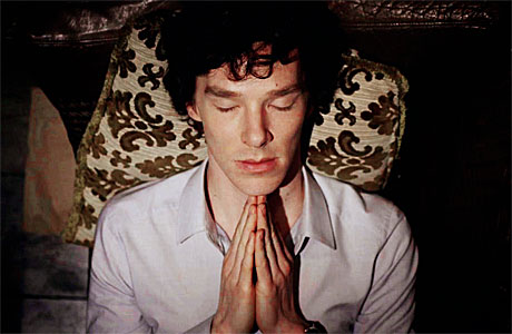 Benedict Cumberbatch prays for work. Again.
