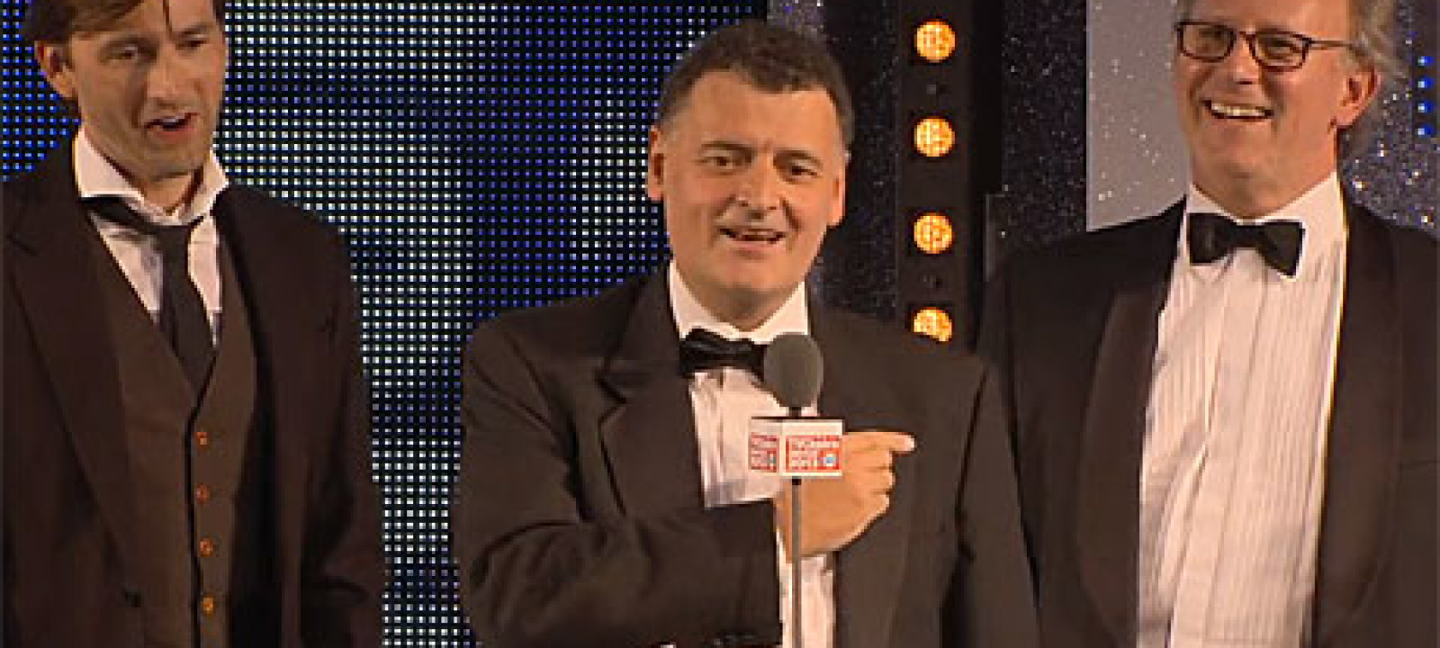 David Tennant, Steven Moffat and Peter Davison