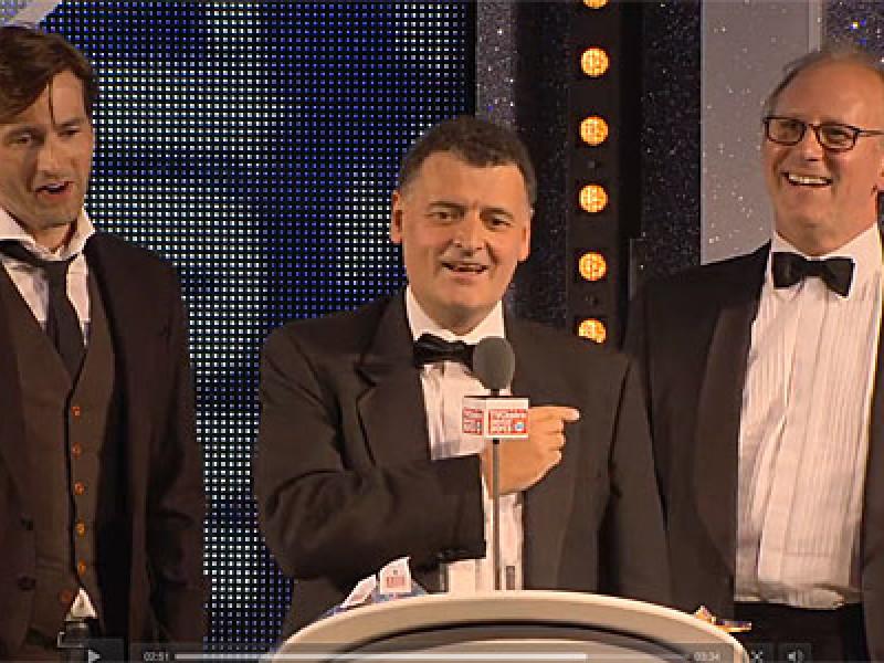 David Tennant, Steven Moffat and Peter Davison