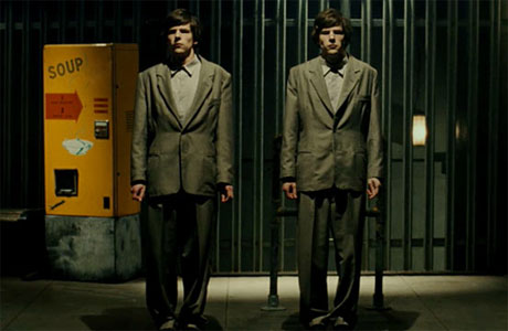 Jesse Eisenberg and Jesse Eisenberg in The Double