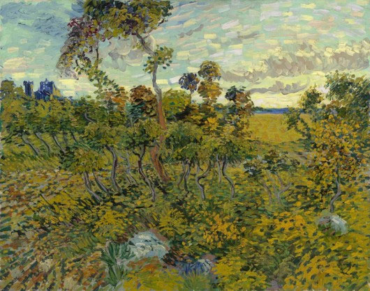 Sunset at Montmajour by Van Gogh