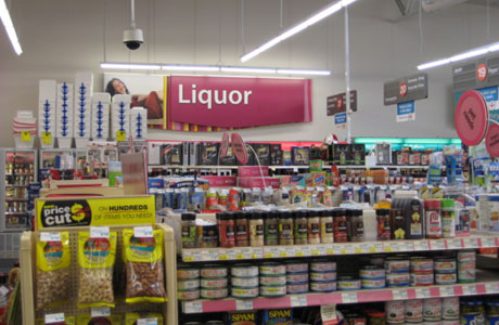Liquor and party favors in your local 'chemist'? We're not in Clapham anymore, Toto (Photo via Long Beach Louie)