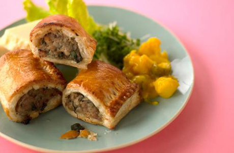 You can make them yourself, but you most likely won't find prepared sausage rolls in your local American grocery store. (Photo via JamieOliver.com)