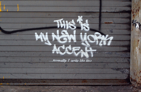 Famed graphic street artist Banksy hosted an exhibit in NYC during the month of October. (Banksy.co.uk)