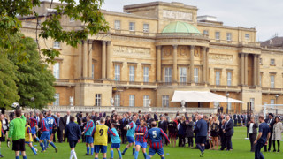 Football match at Buckingham Palace