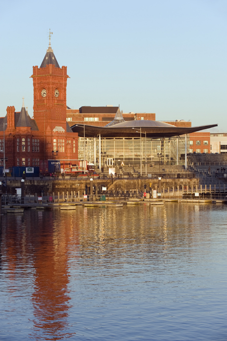 Pierhead Building and Cardiff Bay. (AP)