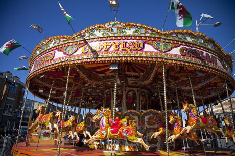 Cardiff Carousel. (AP)
