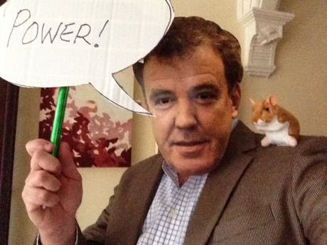Julie's hubby got in on the fun as Jeremy Clarkson ...