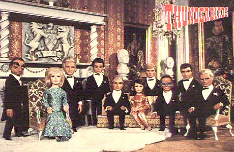 The cast of Thunderbirds, relaxing at home.