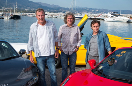Jeremy Clarkson, James May and Richard Hammond, left to right (BBC AMERICA)