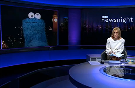 The Cookie Monster on 'Newsnight'