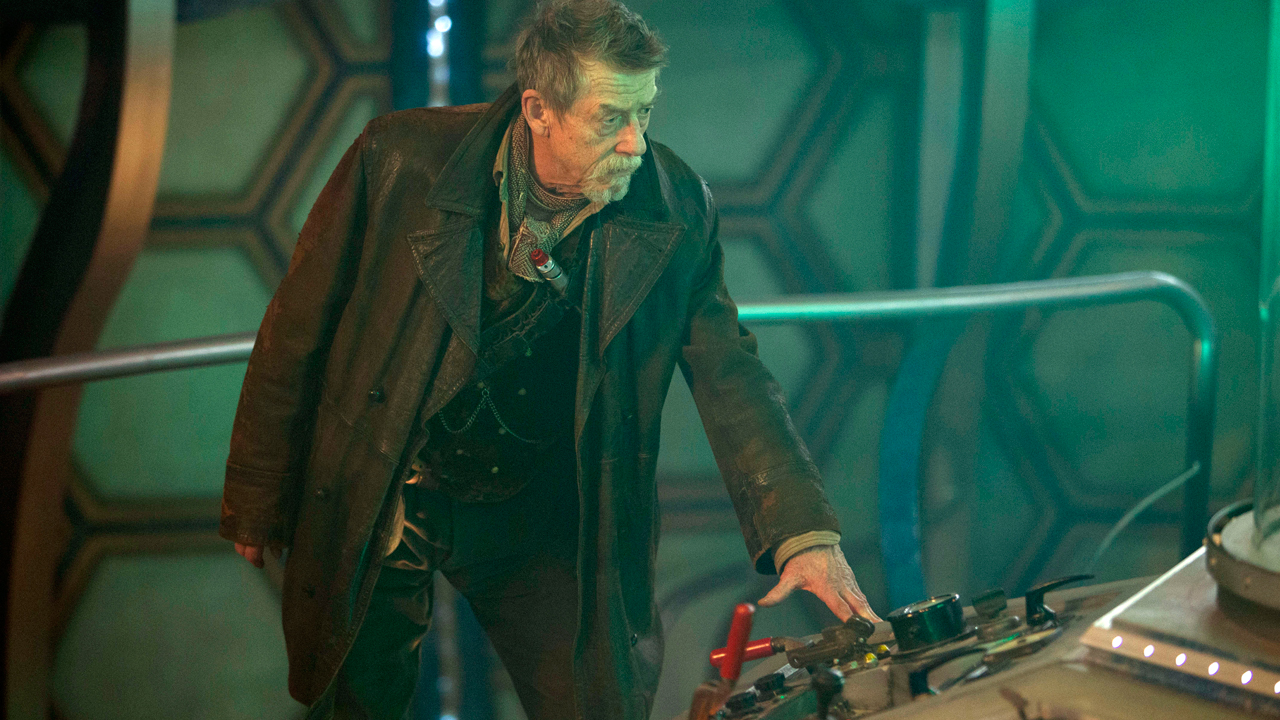 John Hurt in the TARDIS. (Photo: BBC)