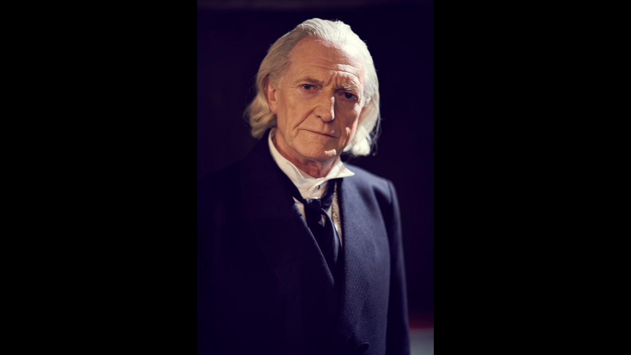 David Bradley as the First Doctor William Hartnell.