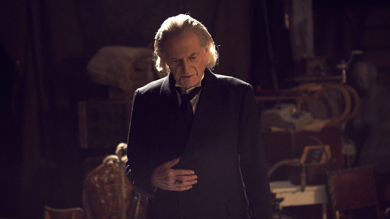David Bradley as William Hartnell, The First Doctor.