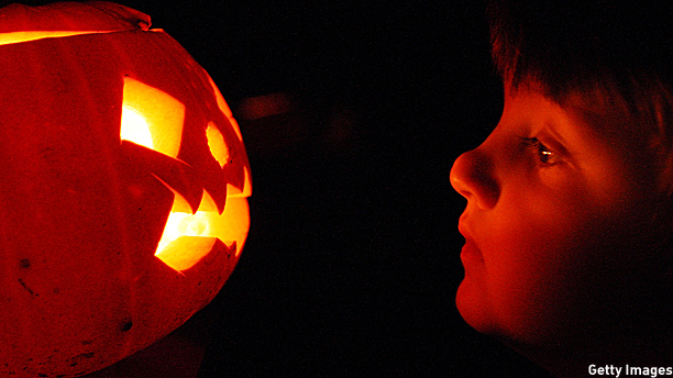 Jack O'lantern and friend (Pic: Peter Macdiarmid/Getty Images)