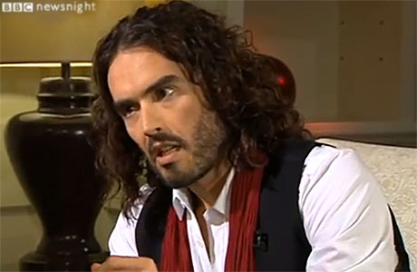 Russell Brand on the BBC's Newsnight