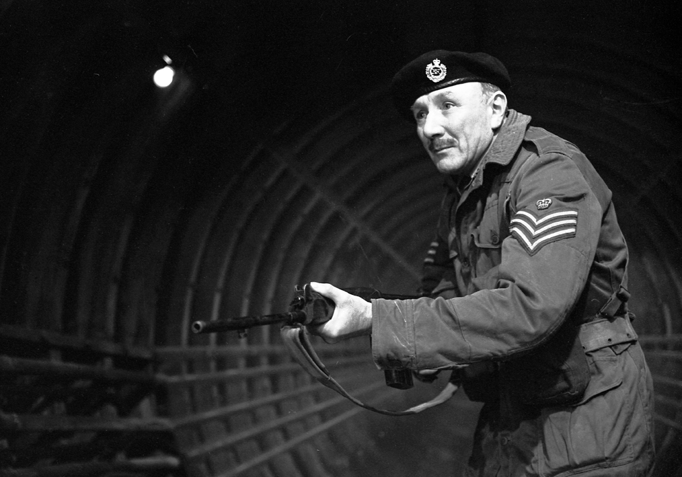 Jack Woolgar as Staff Sgt. Arnold in 'The Web of Fear' (Photo: BBC)