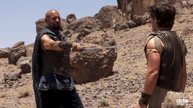 If Jason wants to survive in Atlantis, he'll need to improve his sword fighting.