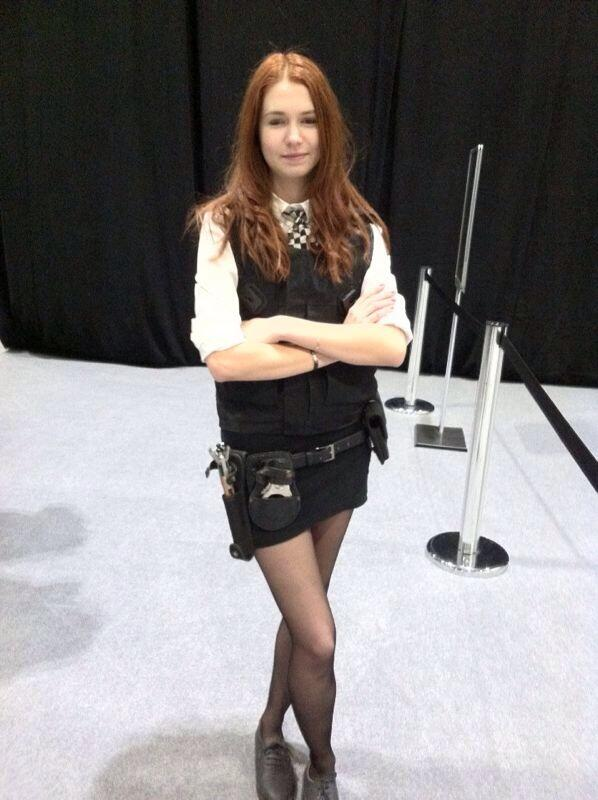 Francine S. (from France) as kiss-o-gram cop Amy Pond. (Photo: Karen Parks)